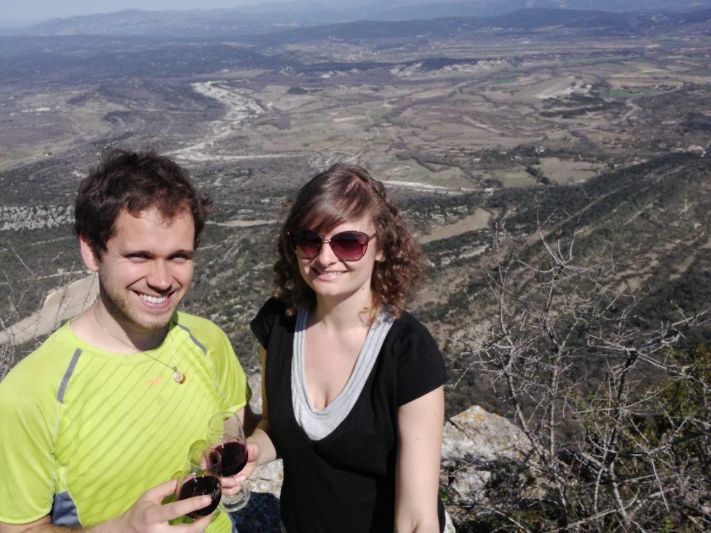 Stéph et Lu' au sommet du Pic Saint-Loup