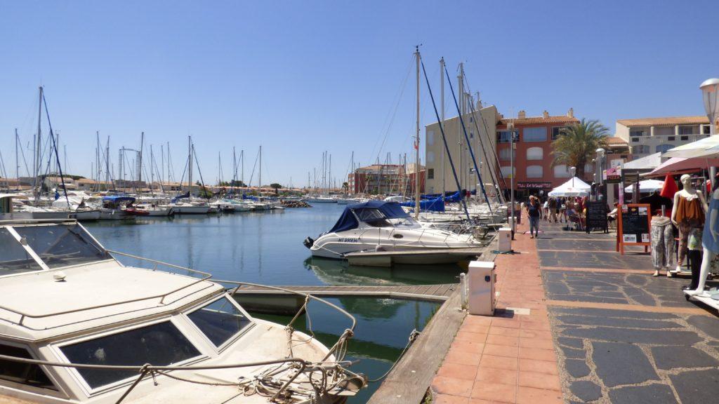 Vue du port du Cap d'Agde lors du Vinocap 2019