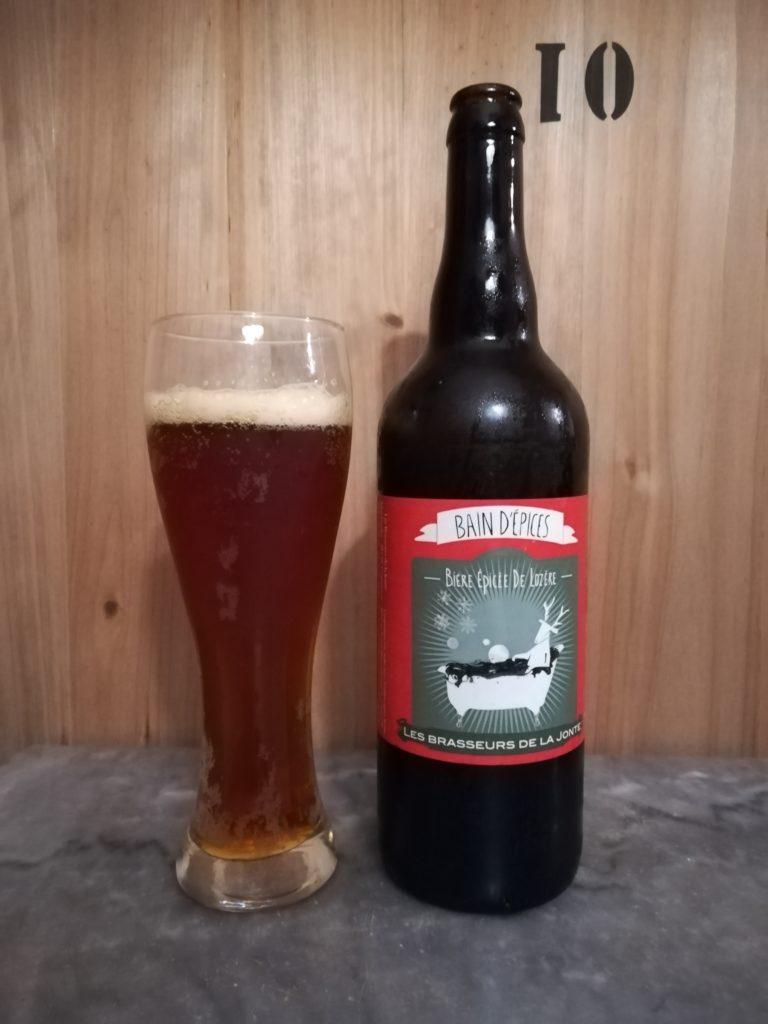 Bière Bain d'Epices les brasseurs de la Jonte