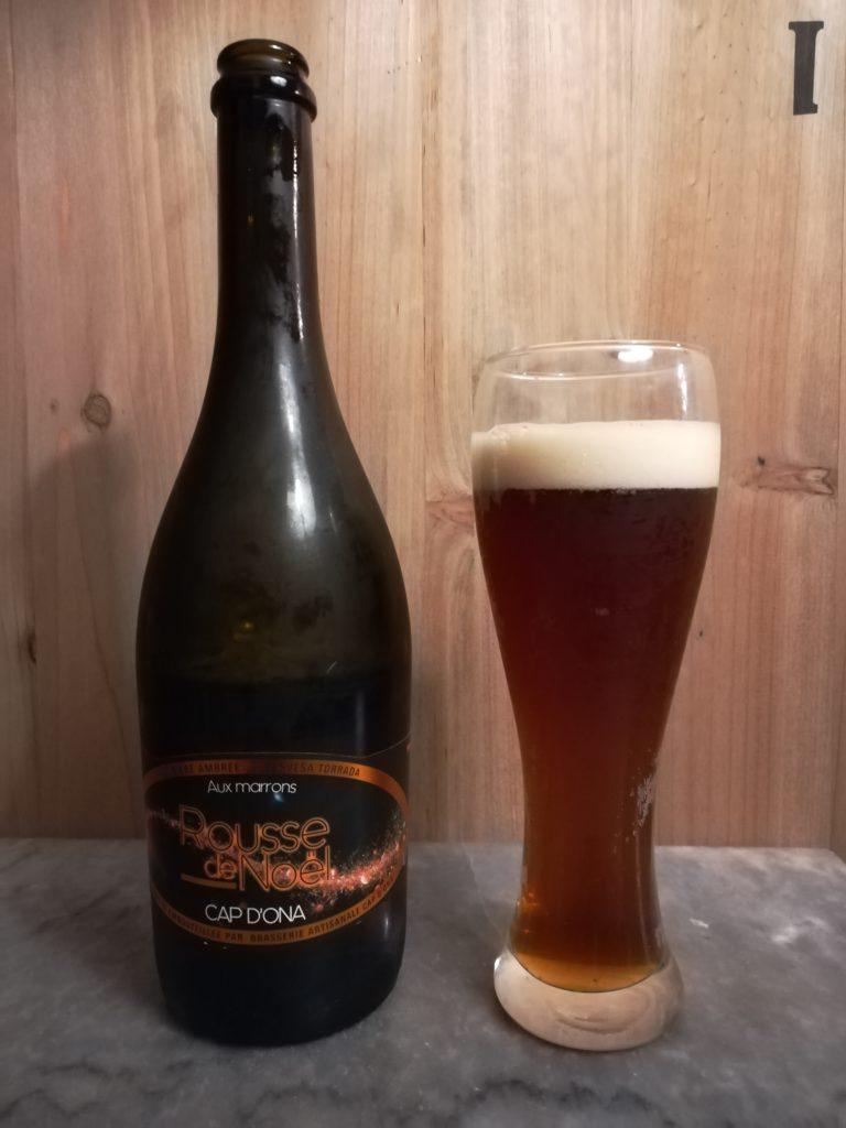 Bière Rousse de Noël brasserie Cap d'Ona